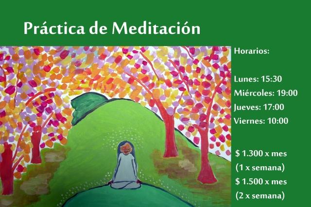 práctica de meditación 4 hrs